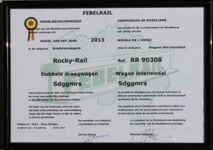 Diplôme Twin car HO Sdggmrs Rocky-Rail