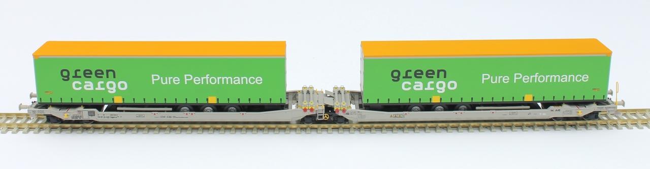 RR90328 : Twin car AAE Cargo Green Cargo AB + 2x trailer Green Cargo
