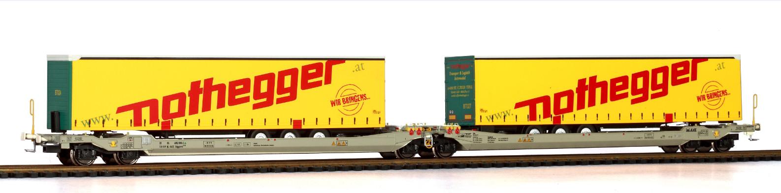 RR90336 : Twin car AAE Cargo Hupac Intermodal + 2x trailer Nothegger