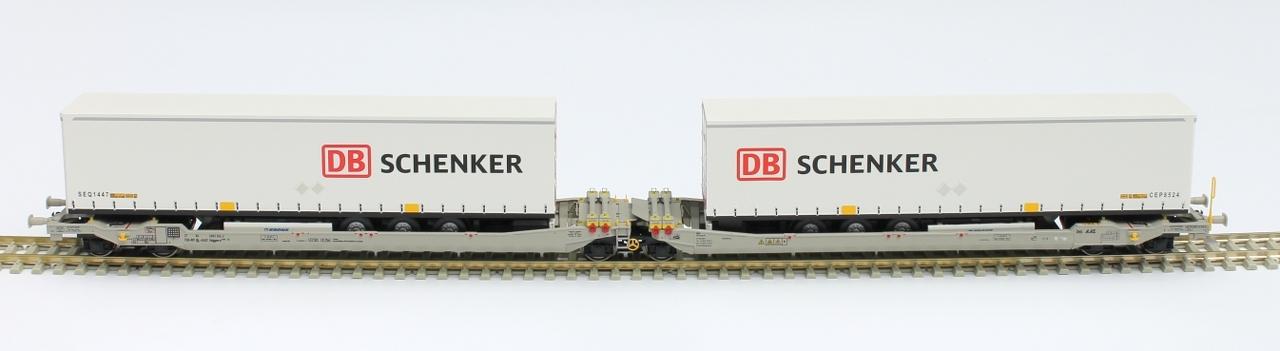 RR90339 : Twin car AAE Cargo DB Schenker Rail AG + 2x trailer DB Schenker