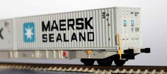 Nieuw Igra Model containerwagen type Sggnss 80, grijs Metrans