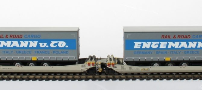 New Twin car with Engemann trailers