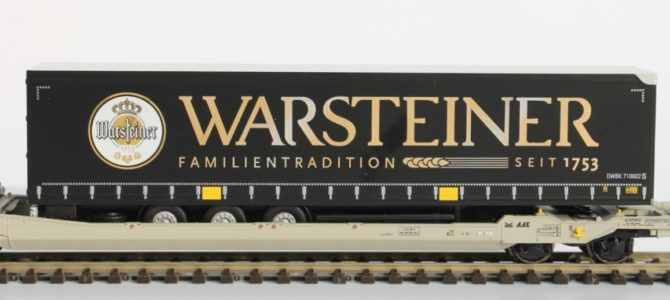 2 new HO Warsteiner beer cars