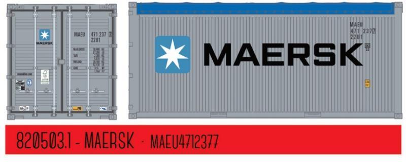 HC Container MSKU 1042618 1:87 PT Trains 840003.2 MAERSK Line 40ft