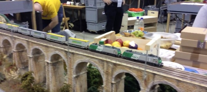 Ambrogio train on the bridge
